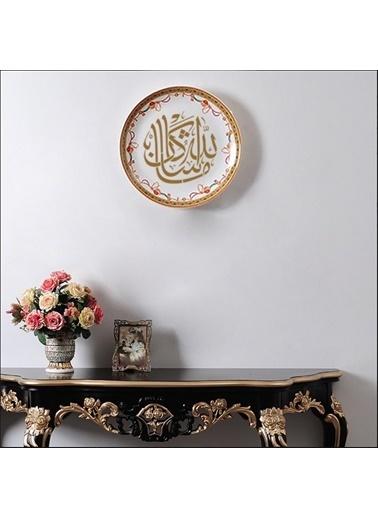 Artikel Allah'ın Dediği Olur Yazılı Stencil Tasarımı 30 x 30 cm , Boyama Şablonu Renkli